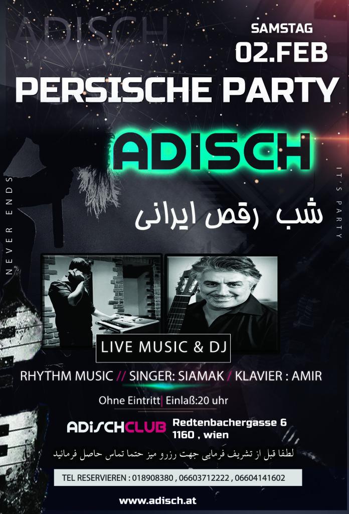Live Music -Persische Party Disco Persisch Iranian  Persische Restauran